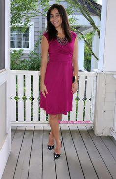 Gilli Brooklynn Cap Sleeve Drape Front Dress ($64)