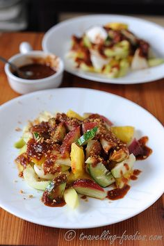 Rujak Kedondong Ulek Terasi - Spicy Indonesian Fruit Salad