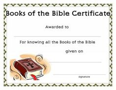 Certificate Template for Kids-Free Printable Certificate Templates for Church, Baptism Certificate Templates, Baby Dedication Certificate Templates, Books of the Bible Certificate Templates and more!