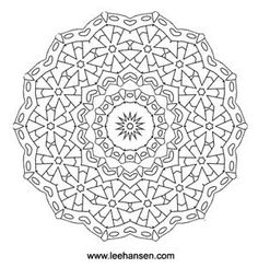 Detailed Coloring Pages For Adults | Flower Wheel Mandala Coloring Page