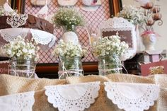 Shabby Chic Party Ideas | Chic First Communion {Birthday Party Inspiration} - Kara's Party Ideas ...