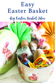 Make a custom Easter Basket with these Easter Ideas from Everyday Party Magazine #Ad #OTCHipHopSquad #OrientalTrading #EasterBasketIdeas #EasterBasket