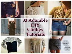 33+Adorable+DIY+Clothes+Tutorials