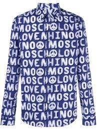 Love Moschino Allover Logo Print/_Short Sleeve Dress Vestido para Mujer