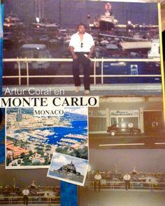 Artur Coral en Monte Carlo, Mónaco. Album familiar.