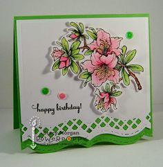 Twinshappy: Surprise!!! Happy 1st Birthday Azalea tamp set by Power Poppy, card design by Stacy Morgan.