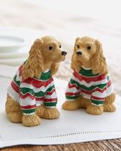 Dogs In Sweaters Salt & Pepper Shakers