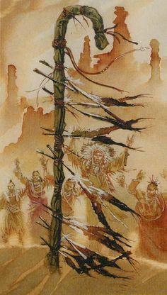 8 of Wands  - Native American Tarot