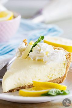 A simple lemon pie is only a few ingredients away! This Lemon Cream Pie comes together with very little prep, and is practically fail-proof!