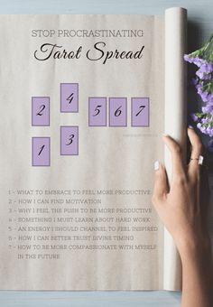 Avoid procrastination with this unique tarot spread!