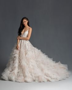 Hayley Paige Spring 2020 Wedding Dress Collection spaghetti strap plunging v-neck tiered ruffled tulle skirt beading a-line wedding dress Hayley Paige Spring 2020 Perfect Wedding Dress, Dream Wedding Dresses, Bridal Dresses, Wedding Gowns, Ruffled Wedding Dresses, Wedding Attire, Lace Wedding, Reception Dresses, Modest Wedding