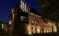 arquitetura, construção, castelo, noite papéis de parede