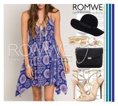 """""""Romwe#11"""" by mila96h ❤ liked on Polyvore featuring Kendra Scott, ShoeDazzle, Schutz, Monki, River Island, vintage and romwe"""