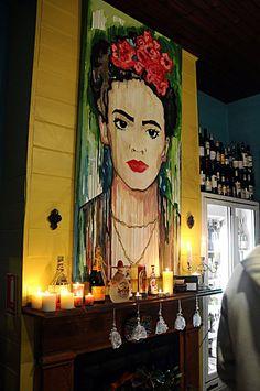 MOSS GROTTO Emporium: Frida Khalo at 'EL POCO BURRITO Barwon Heads