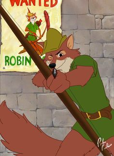 Is it totally weird that I had a super massive crush on the Disney Robin Hood? Disney Fan Art, Disney Love, Disney Magic, Disney Pixar, Walt Disney, Disneyland, Deviantart Disney, Disney And More, Disney Pictures