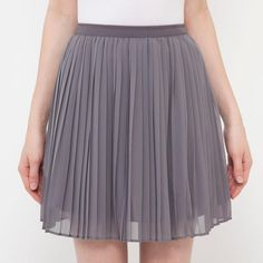 WOMEN Chiffon Pleated Mini Skirt