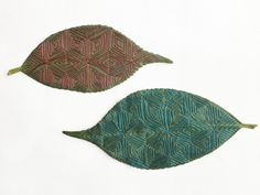 Stitched leaves by artist Hillary Waters Fayles Garden Deco, Hearth And Home, Leaf Art, Patterns In Nature, Cutwork, Stitch Design, Needle And Thread, Embroidery Thread, Leaves