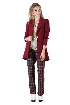 Isa Prilla Pant   Plaid Pants   Winter 2017   Annah Stretton Floral Jacket, Plaid Pants, Winter 2017, Faeries, Tartan, Trousers, Vogue, Cotton, Jackets