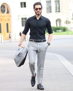 business mens fashion which look trendy. Trendy Mens Fashion, Indian Men Fashion, Mens Fashion Wear, Stylish Mens Outfits, Suit Fashion, Look Fashion, Formal Dresses For Men, Formal Men Outfit, Formal Shirts For Men