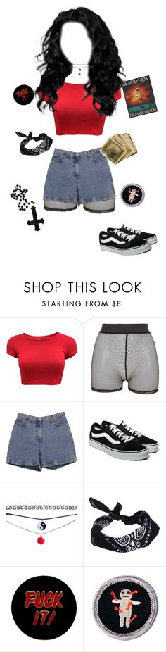 """""""Bullet proof heart"""" by natalieschuette ❤ liked on Polyvore featuring Bitching & Junkfood, Ann Taylor, Vans, Wet Seal, ASOS, Humör, indie, Punk, grunge and 90s"""