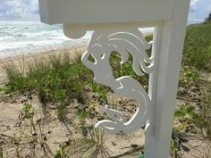 Large Decorative Mermaid Corner Bracket / Indoor / outdoor Coastal Decor by SimplyBurtons on Etsy Adams Furniture, Mermaid Home Decor, Custom Mailboxes, Indoor Outdoor, Outdoor Decor, Outdoor Ideas, Coastal Decor, Home Improvement, Pool Cage