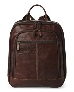 Jack Georges Brown Voyager Collection Backpack