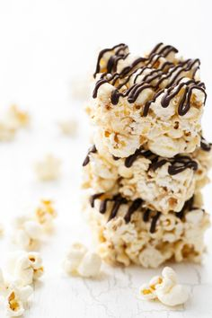 Quick & Easy Salt & Pepper Popcorn Bars with Dark Chocolate Drizzle