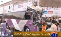 FAISALABAD: At least two people were killed and thirty injured in a roadside accident near Faisalabad in the wee hours of Monday morning, Geo News reported. Details have i ...