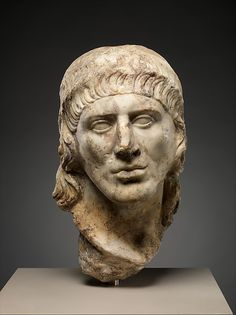 """Marble head of a man"" (ca. 69-96 CE). Roman, Flavian period. Posted on metmuseum.org."