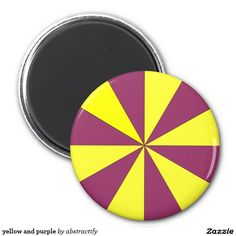yellow and purple 2 inch round magnet