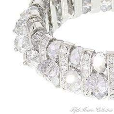 Bridal Bracelet - Bewitching, made with Swarovski crystal. Fifth Avenue Collection, Bridal Bracelet, Bridal Jewellery, International Fashion, Statement Jewelry, Swarovski Crystals, Fashion Jewelry, Elegant, My Style