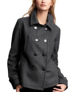 RARE ITEM - ON SALE - HURRY! SHIPS WORLDWIDE!! NWT GAP SOLDOUT WOMENS PEA COAT SMALL or L / XL Regular $148, 1 piece each ONLY! #GAP #Peacoat