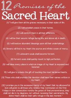 "The Sacred Heart promises also make amazing daily affirmations--""He WILL bring peace to my family and comfort me in ALL my afflictions."""