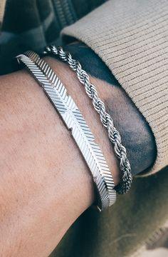 *Mister Feather Cuff Bracelet - Chrome - Mister SFC - 2