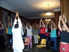 Stress Reduction Stretches for medical staff at Children's Memorial Hospital in Chicago, USA