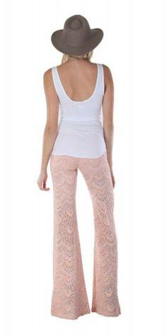 NIGHTCAP CLOTHING SPANISH FAN LACE PANT SOFT PEACH $216- CALL SPLASH TO ORDER 314-721-6442