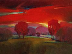 "Contemporary Painting - ""Red Dawn"" (Original Art from Mac Stevenson)"