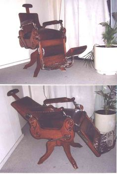 Chairs, Stools & Footstools - Antique Barber Chair was sold for R8,500 ...