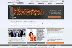 www.parametricsound.com- website of a technology company. Designed and developed by Echo (www.ieecho.com)