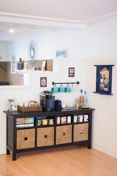 Tea and Tassimo Bar! Dwell Beautiful shows you all the details behind her beloved tea and coffee bar so you can be inspired and get the scoop on how to re-create your own space!