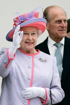 Queen Elizabeth II and Prince Philip at the State Capitol Building on the first day of their USA tour on May 3, 2007 in Richmond, United States.