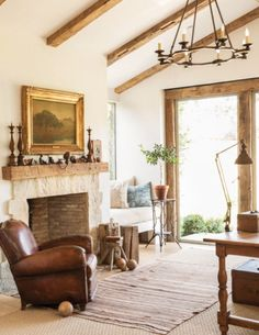 An Enchanting California Farmhouse with a Secret: Brooke and Steve Giannetti's Ojai estate, Patina Farm, exudes timeworn warmth — even though it has just been built.