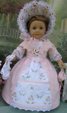 MID 1800'S 10 PIECE GARDEN PARTY DRESS FOR AMERICAN GIRL DOLL FELICITY,ELIZABETH (06/15/2013)