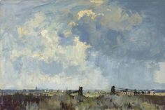 Edward Seago, R.W.S., R.B.A. (1910-1974)  The Marsh Gate
