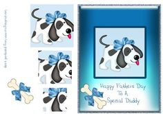 Puppy Dog Pyramid Fathers Day Daddy on Craftsuprint - Add To Basket!