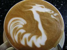 Coffee Dragon. I would DIE if someone did this for me. <3