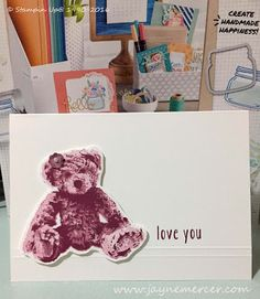 Baby Bear by Jayne Mercer - Cards and Paper Crafts at Splitcoaststampers Happiness, Animal Cards, Love, Stampin Up Cards, Paper Crafts, Scrapbook, Catalog, Bear Hugs, Fun