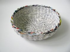 paper bowl, newspaper, papierowa misa