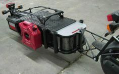 The scooter cargo trailer I designed and built for my Honda Ruckus… Motorcycle Trailer, Motorcycle Camping, Camping Car, Honda Ruckus, Small Trailer, Off Road Trailer, 1200 Gs Adventure, Side Car, Adventure Trailers