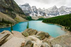 Moraine Lake and the Valley of the Ten Peaks - In beautiful Banff National Park, Alberta, Canada.